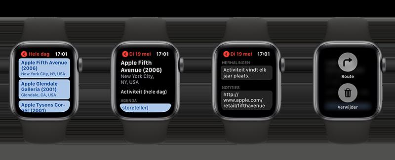 Apple Watch afspraken