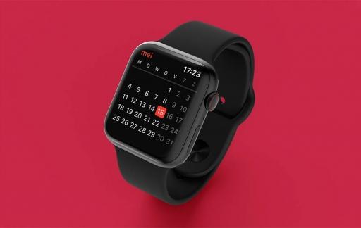 Apple Watch Agenda: maandoverzicht