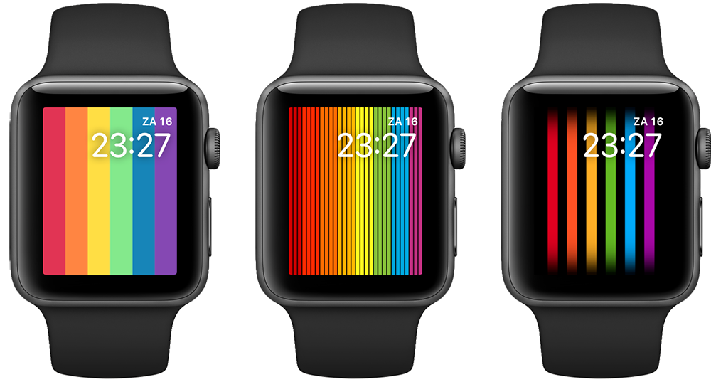 Apple Watch Pride jaren 2020, 2019 en 2018