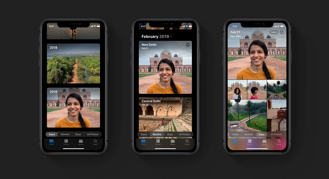 Foto's op iPhone overzicht.