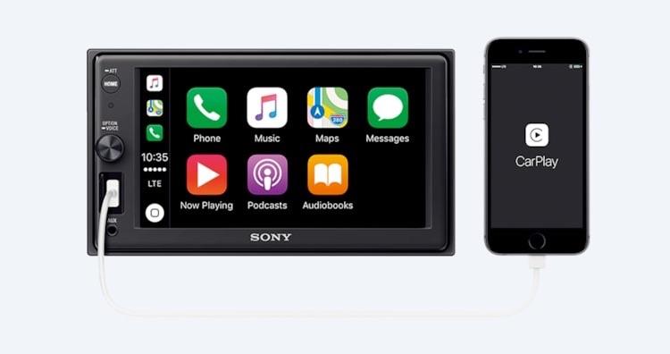 Sony XAV CarPlay radio.