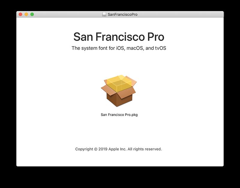 San Francisco font installeren