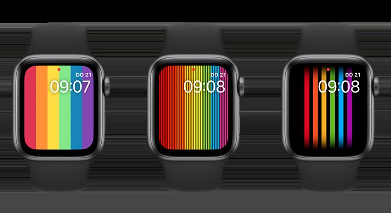 Pride Digitaal wijzerplaten 2020, 2019 en 2018