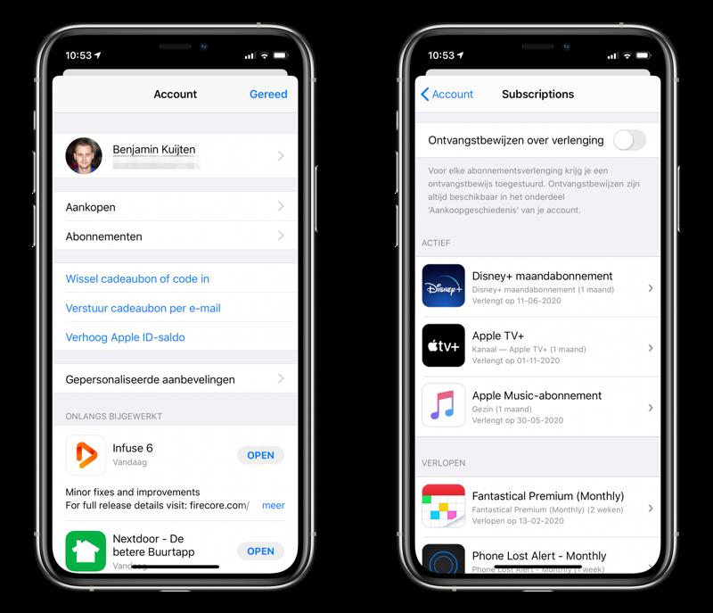 App Store abonnement opzeggen.