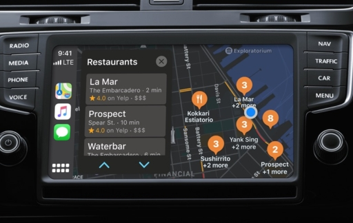 CarPlay Kaarten-app.