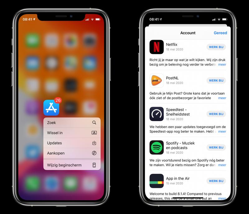 App Store app updates.