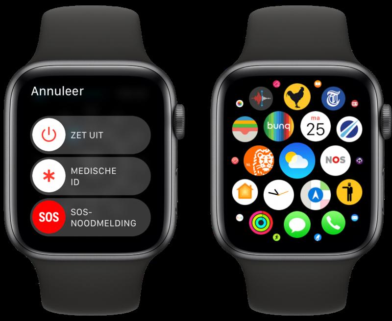 Apple Watch app geforceerd afsluiten.