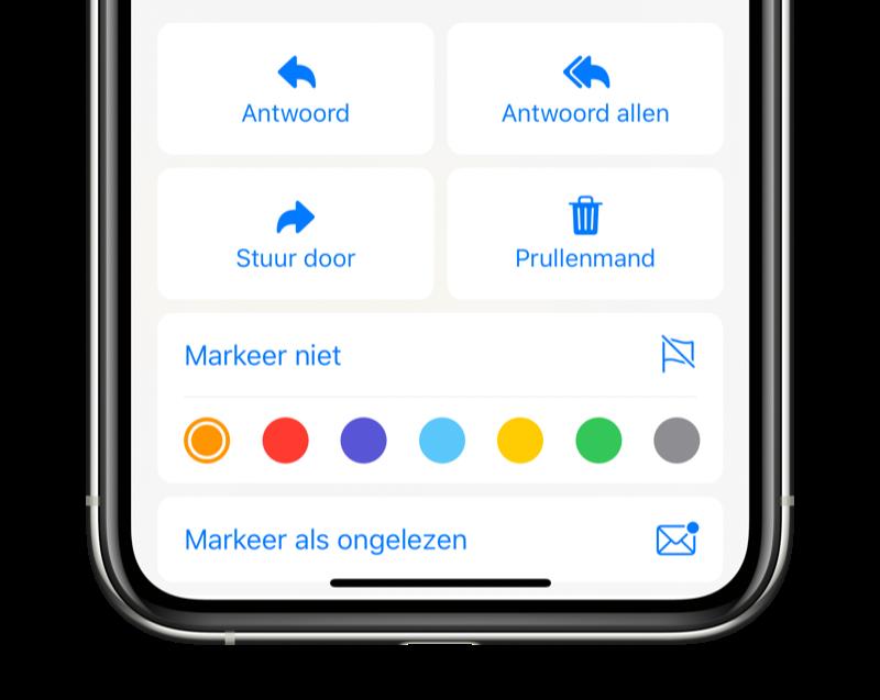 Mail-app kleur voor markeren wijzigen.