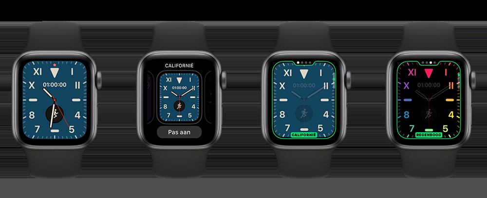 Regenboog instellen Apple Watch