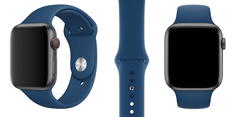Apple Watch horizonblauw bandje