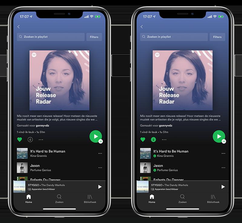 Spotify offline opslaan