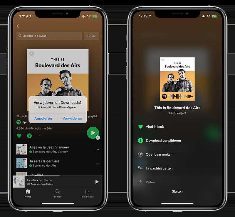 Spotify offline nummers verwijderen