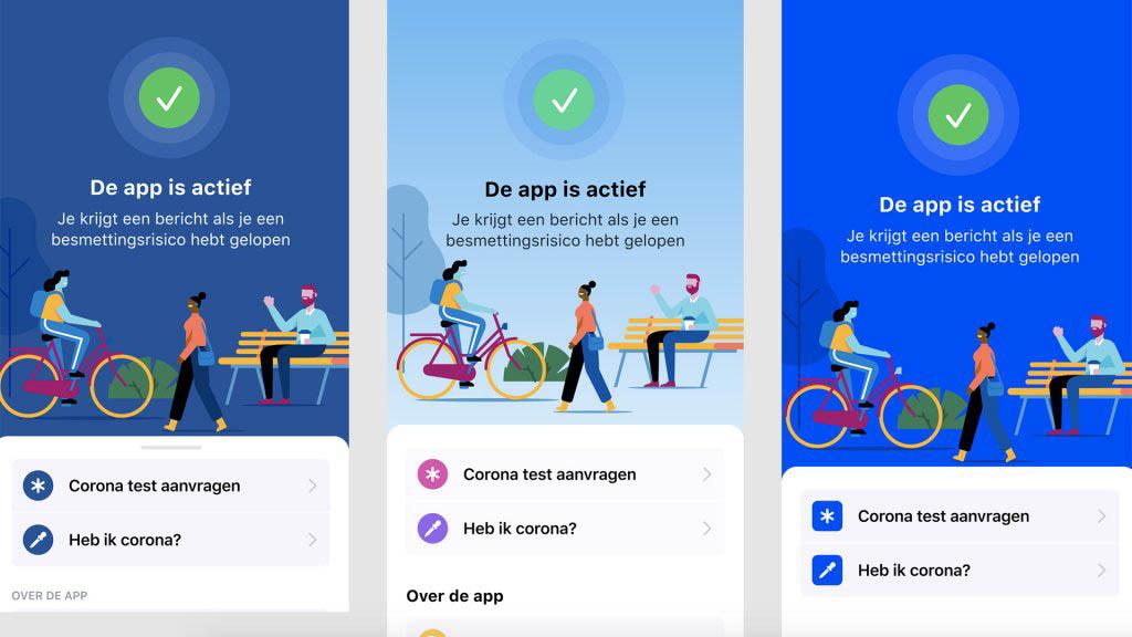 Corona-app design