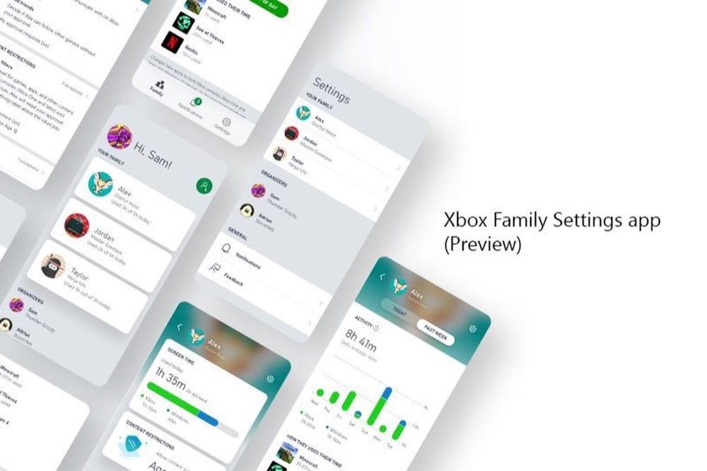 Xbox Family Settings app.
