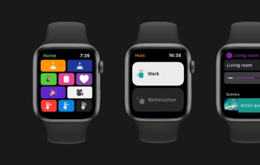 Apple Watch smart home en HomeKit-apps.