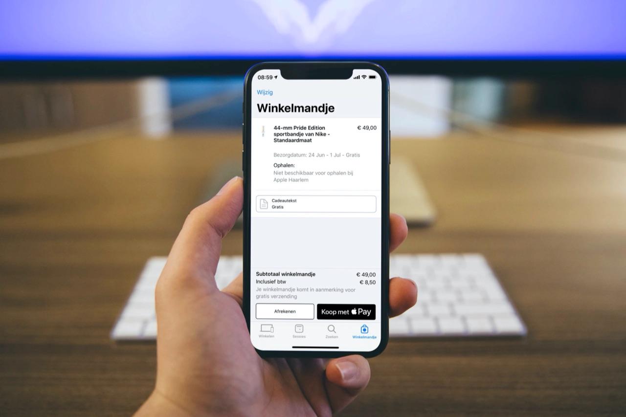 Apple Store app met Apple Pay.