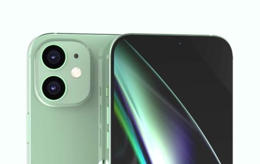 iPhone 12 Max camera in groen.