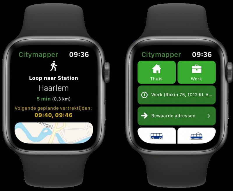 Citymapper op Apple Watch.