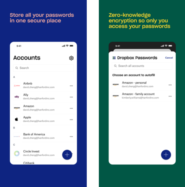 Dropbox Passwords app.
