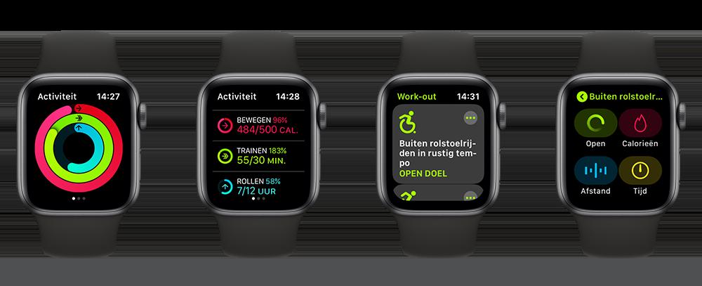 Workout op Apple Watch met rolstoel