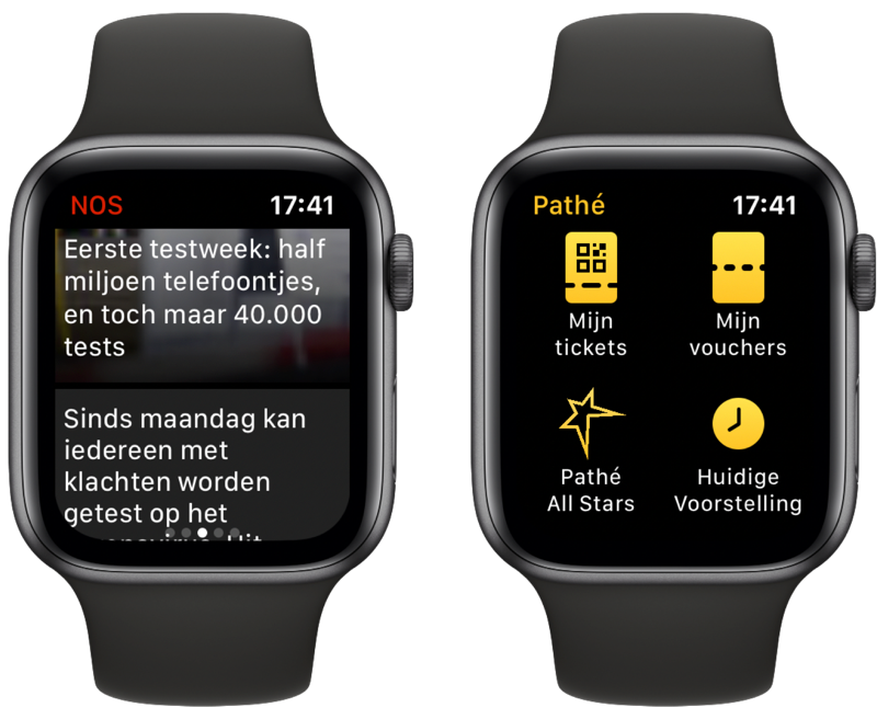 NOS en Pathé op Apple Watch.