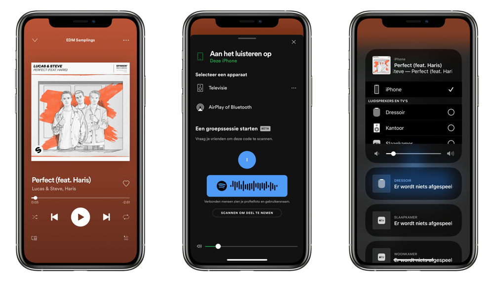 Spotify muziek afspelen via AirPlay op de HomePod.
