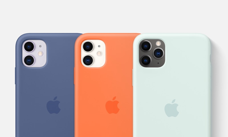iPhone hoesjes: siliconen hoesje in drie zomerkleuren voor 2020.