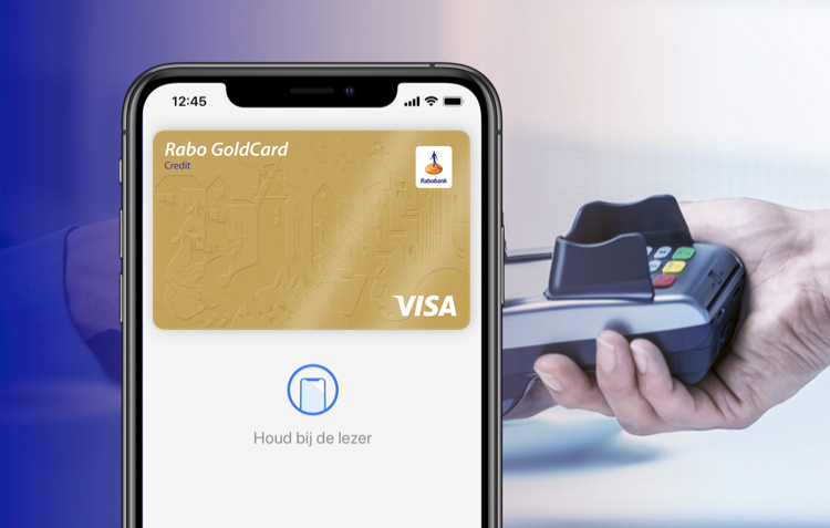 Rabobank creditcard in Apple Pay.