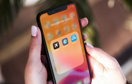 Automatisch apps verwijderen: wolkje bij apps.