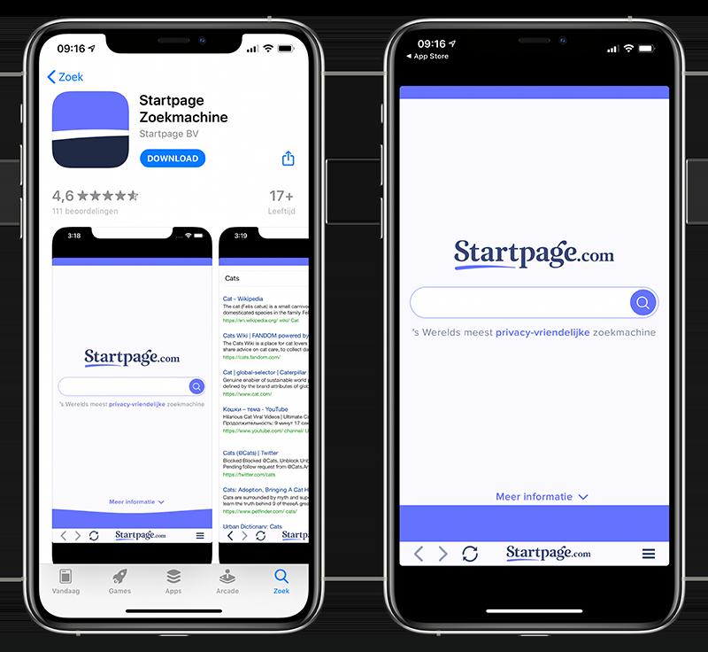 Startpage zoeken