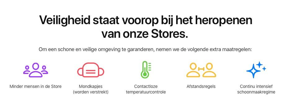 Apple Stores: nieuwe regels omtrent corona.