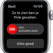 Apple Watch valdetectie melding.