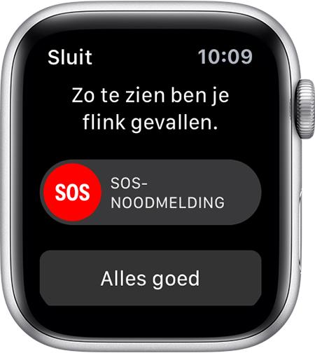 Apple Watch valdetectie melding.