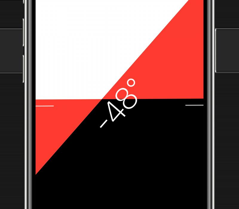 Waterpas op de iPhone: hoek meten.