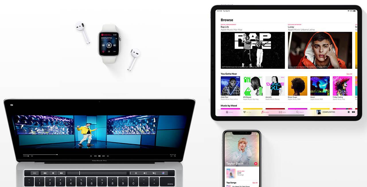 Apple Music op devices