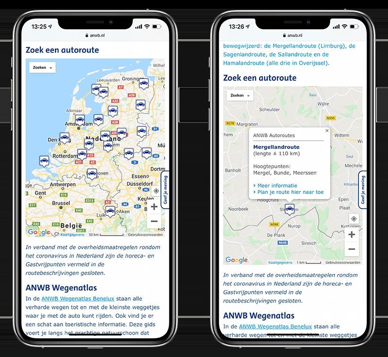 GPX routes zoeken op de ANWB-website