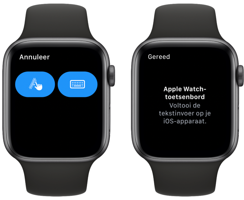 Apple Watch toetsenbord: typen op je iPhone.