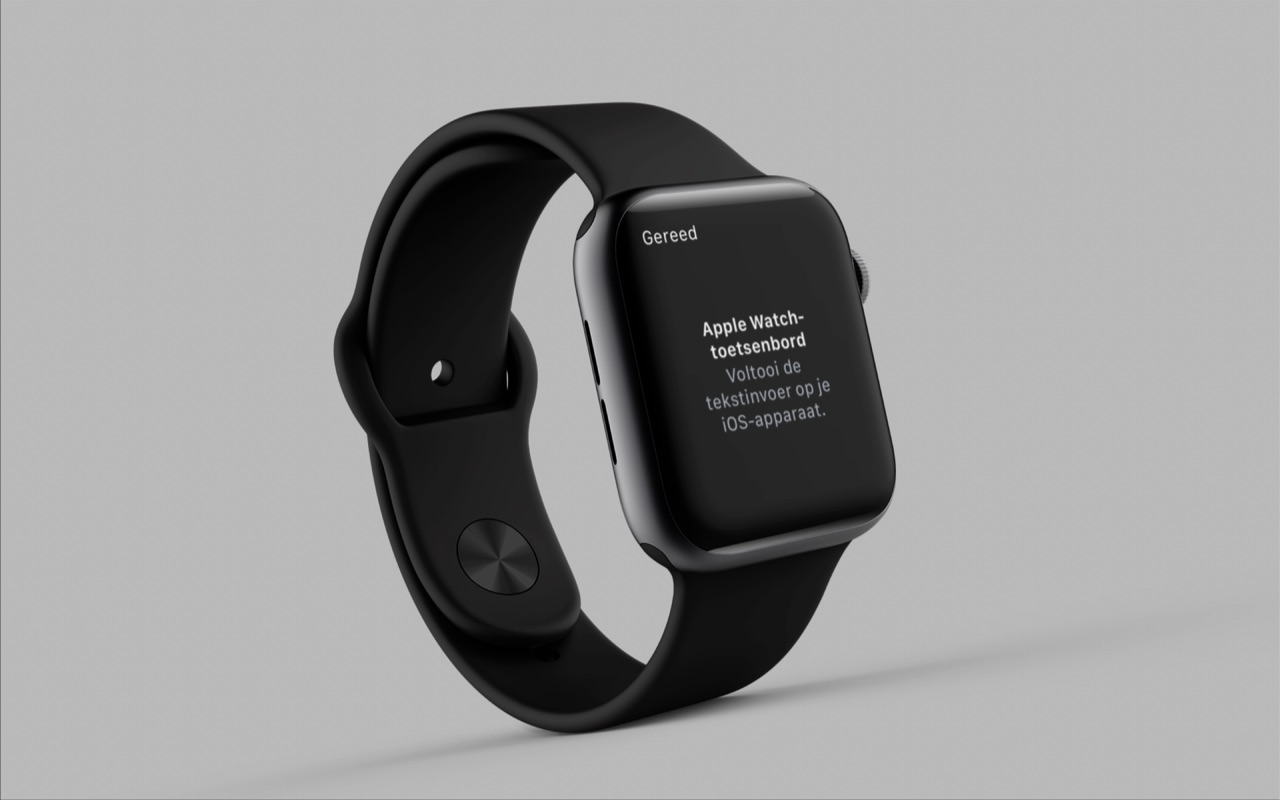 Apple Watch-toetsenbord om mee te typen.