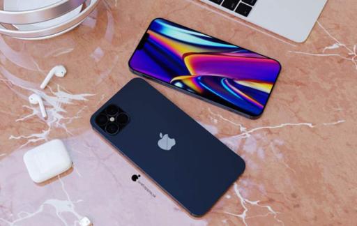 iPhone 12 render donkerblauw