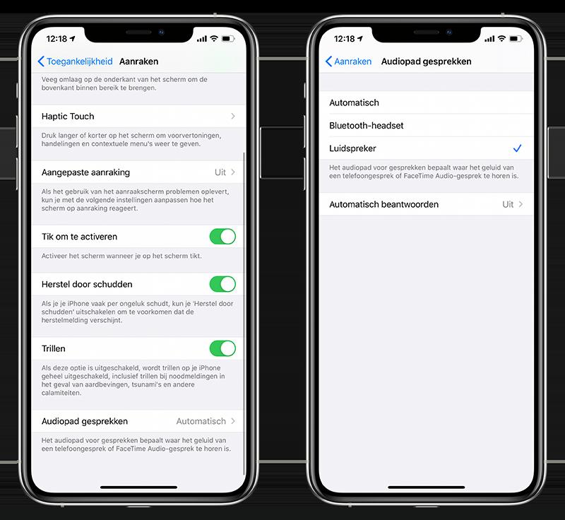 iPhone-speaker gesprekken voeren