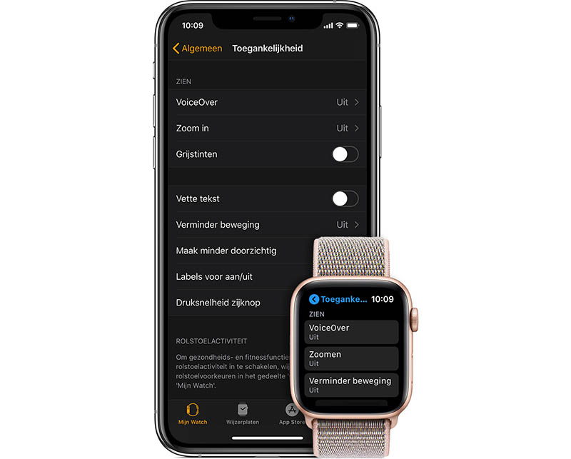 Toegankelijkheid Apple Watch