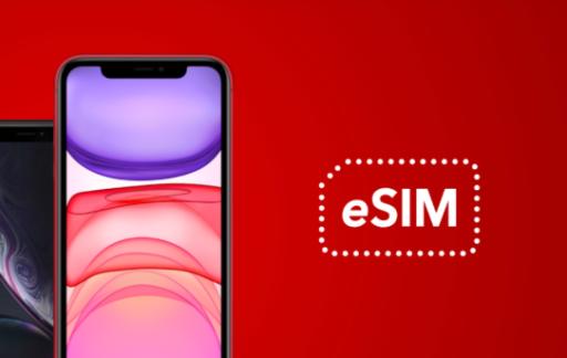 Vodafone eSIM beschikbaar.