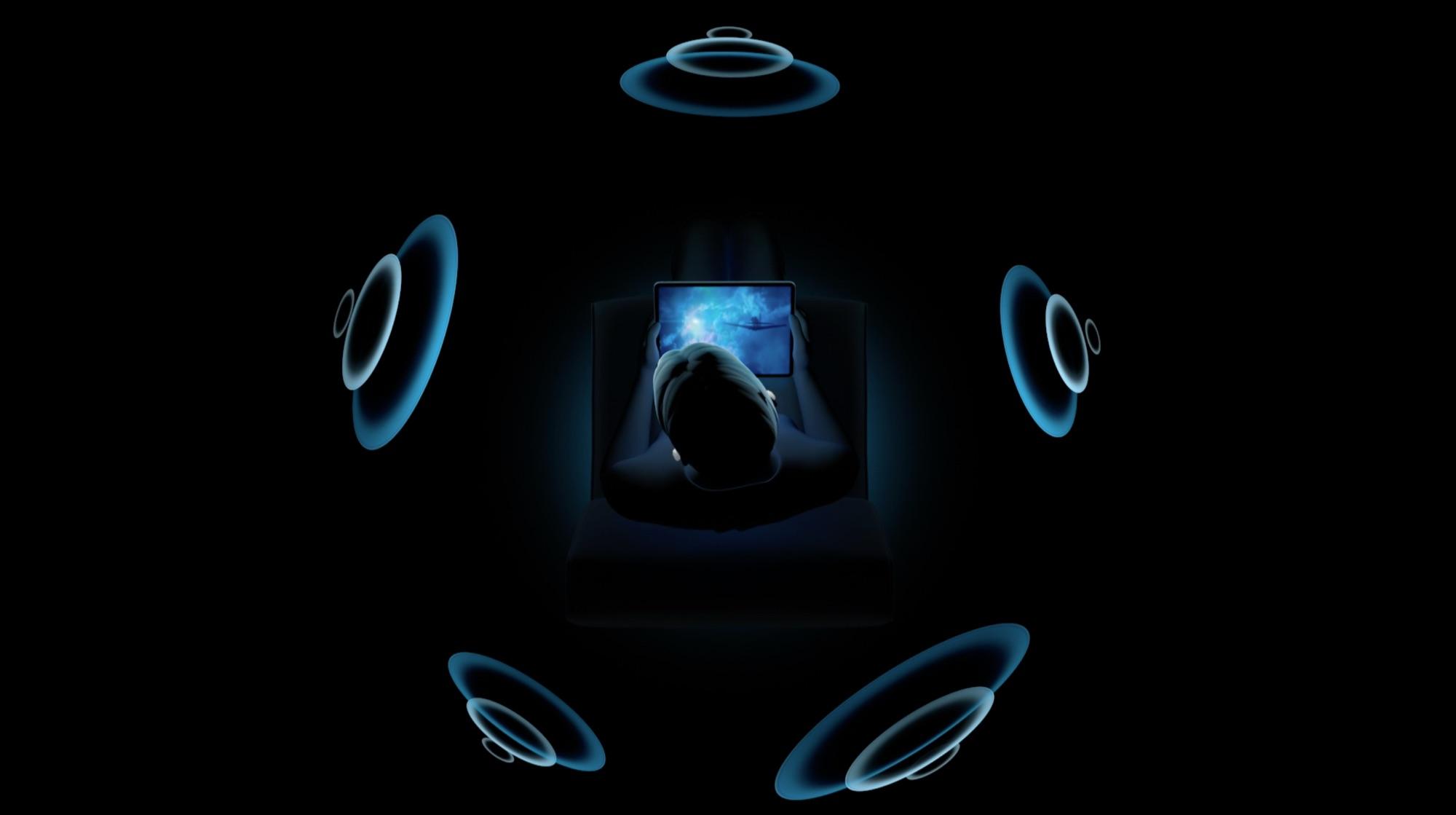 AirPods met ruimtelijke audio (Spatial Audio).
