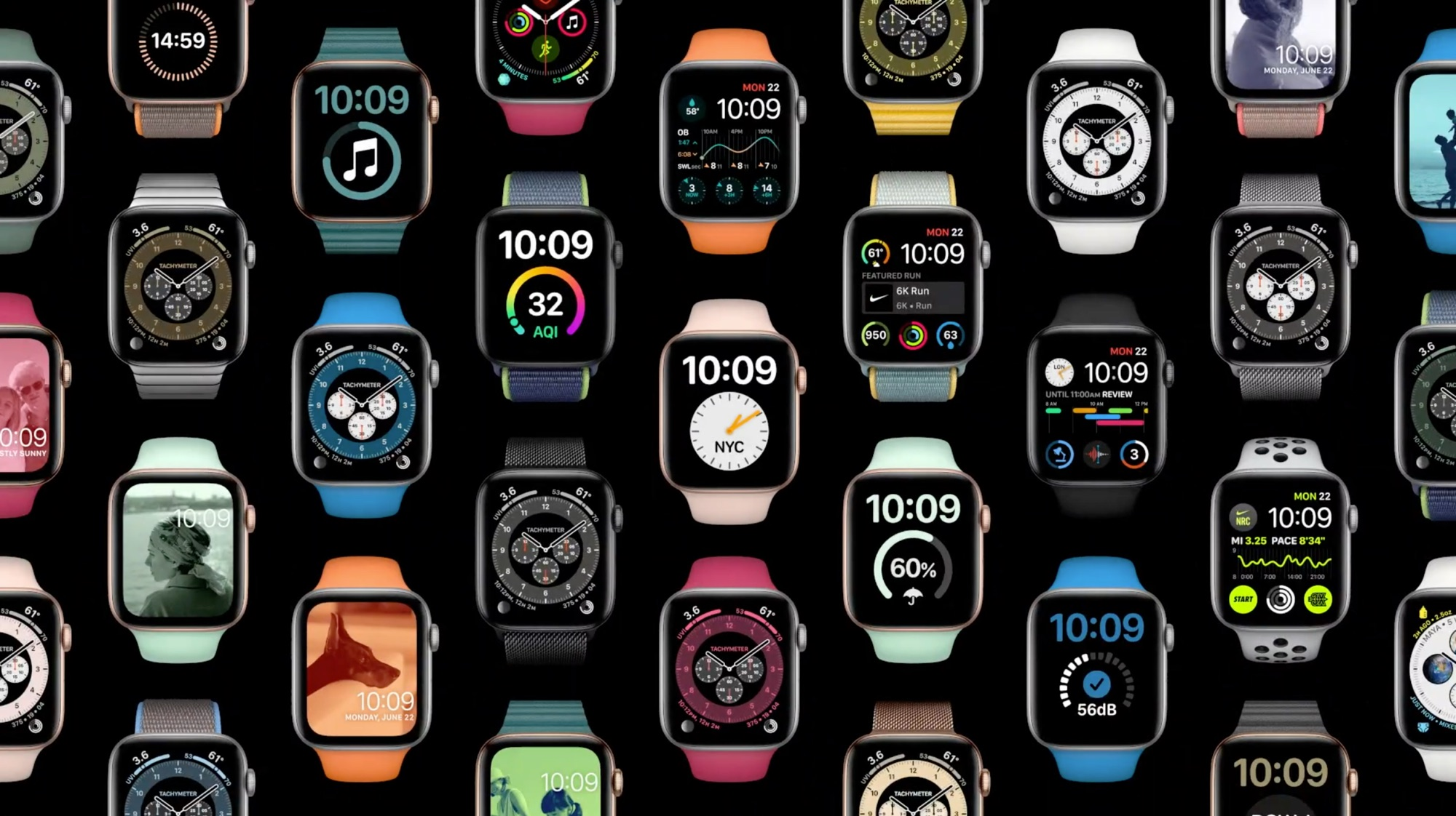 watchOS 7 horloges.