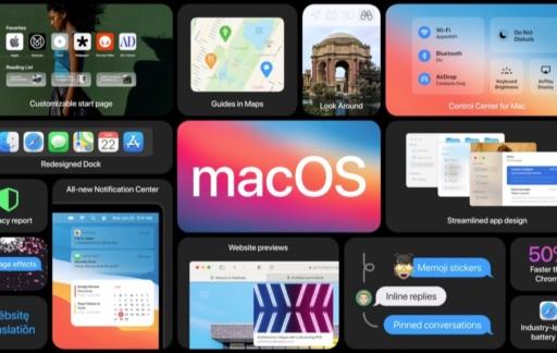 macOS Big Sur functies overzicht.