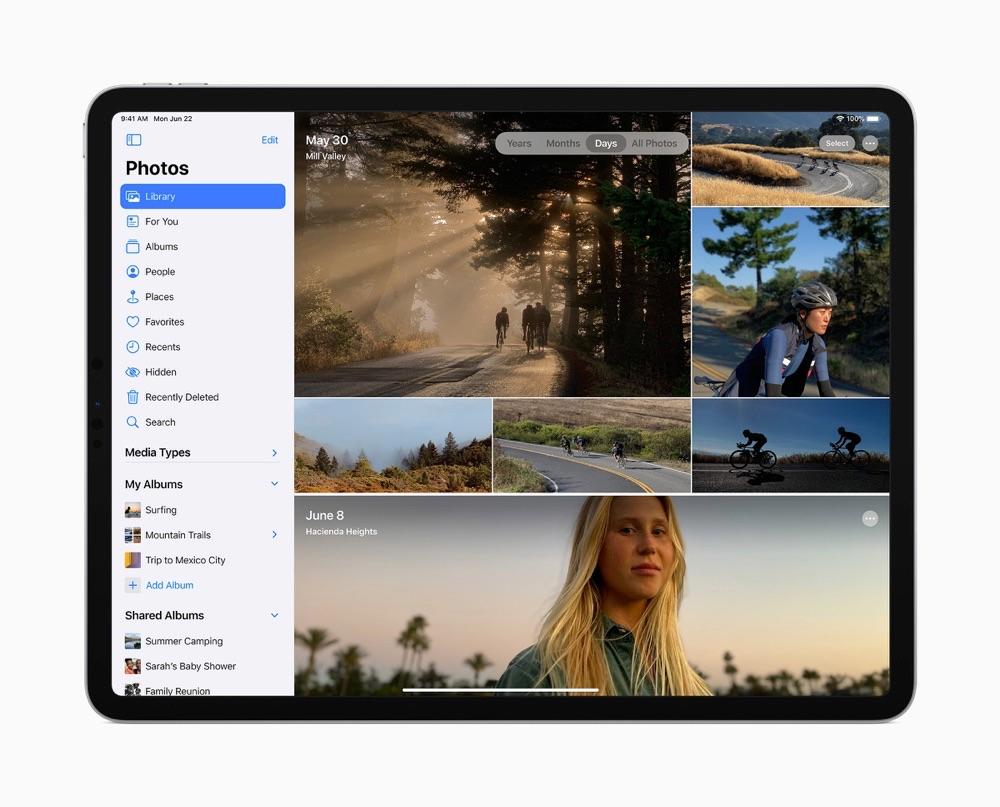 iPadOS 14 Bestanden met foto's