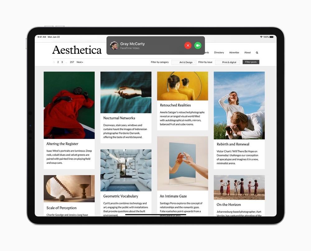 iPadOS 14 gebeld worden