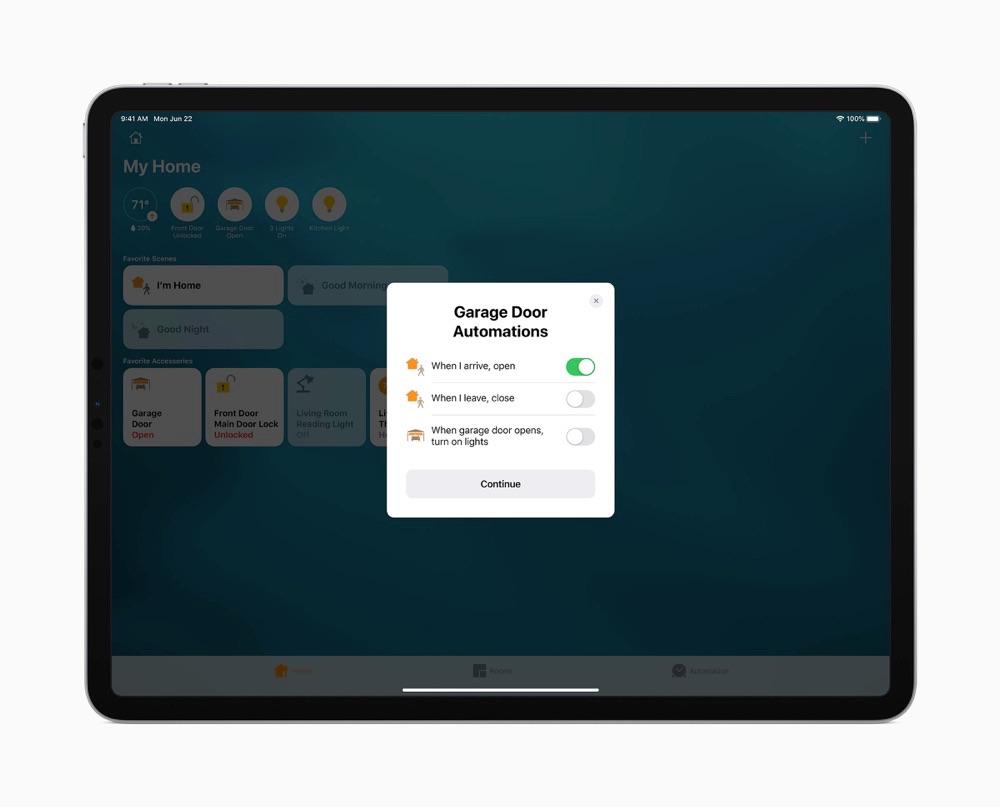 iPadOS 14 Woning app