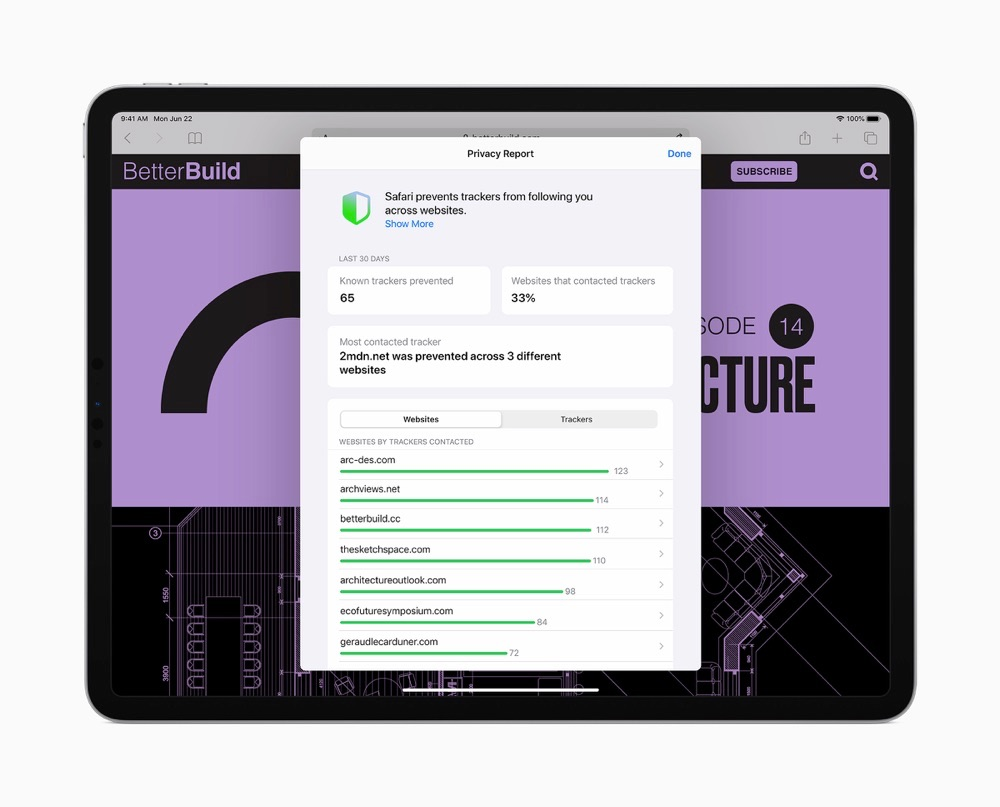 iPadOS 14 Safari privacy