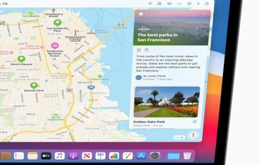 macOS Big Sur Kaarten gidsen
